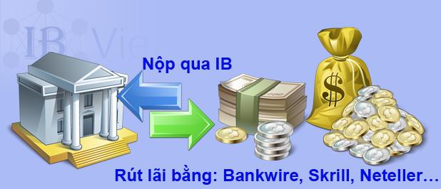 hướng dẫn nộp rút tiền qua ib