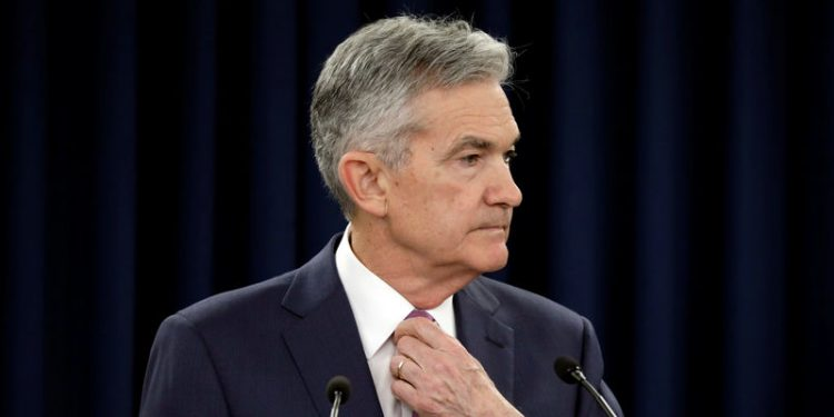 Federal Reserve Board Chairman Jerome Powell speaks at his news conference after the two-day meeting of the Federal Open Market Committee (FOMC) on interest rate policy in Washington, U.S., June 13, 2018. REUTERS/Yuri Gripas